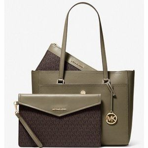 MICHAEL KORS 3-in-1 Large Pebbled Leather Tote Bag